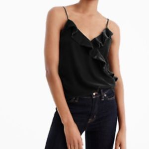 J.crew velvet going out tank black size 00